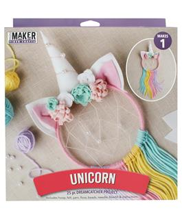 Leisure Arts Mini Maker Unicorn Dreamcatcher Kit