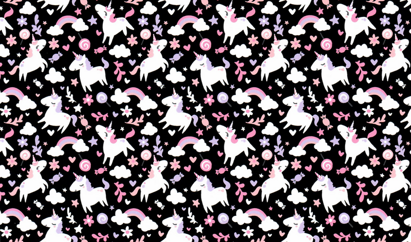 Unicorn Pattern Heat Transfer Vinyl and Carrier Sheet