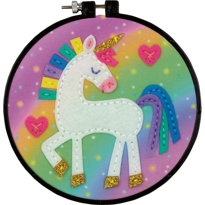 Dimensions Applique Craft Kit for Kids - Unicorn