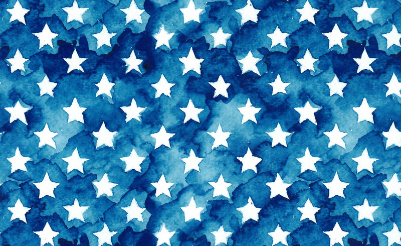 Watercolor Stars Heat Transfer Vinyl and Carrier Sheet - American Flag HTV