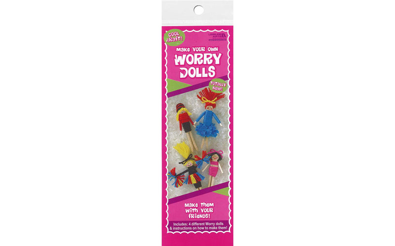 Leisure Arts Kit Worry Dolls- Cheerleaders