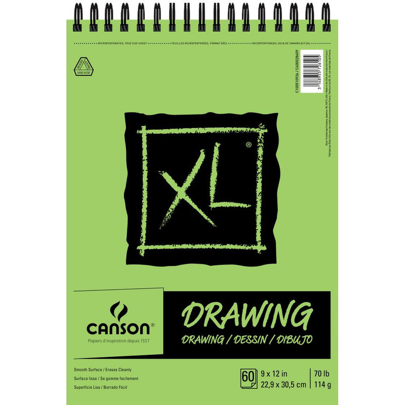 "Canson XL Recycled Drawing Paper Pad 9""X12"""