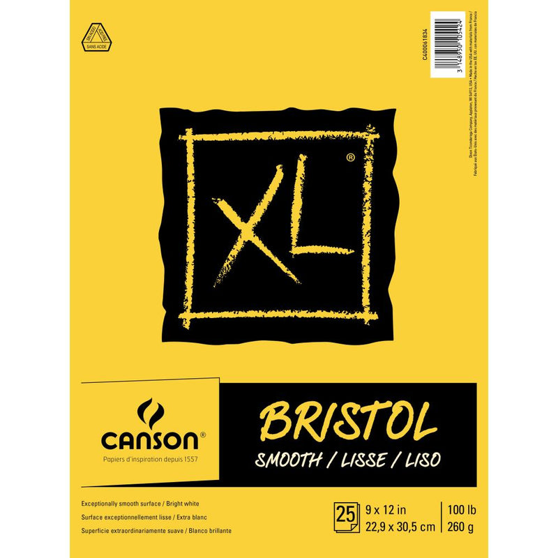 "Canson XL Recycled Bristol Paper Pad 9""X12"""