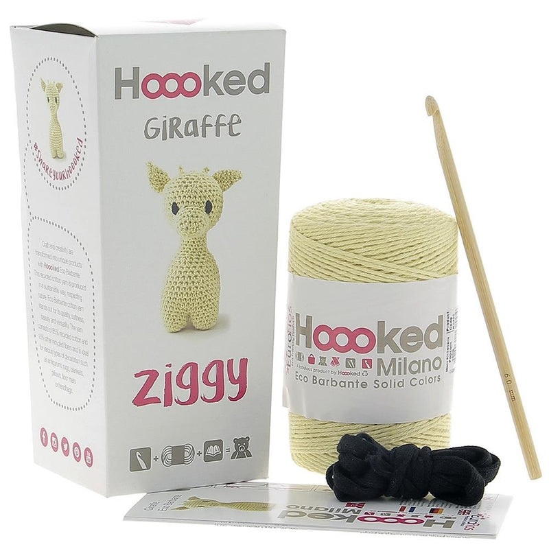 Hoooked Ziggy Giraffe Yarn Kit with Eco Barbante Yarn