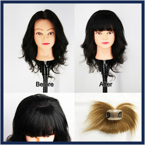 Mono Top Human Hair Fringe Piece Handmade, Black