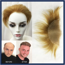 Male Lace Top Human Hair Piece for Covering bold / thin top