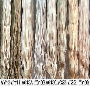 "Micro Tape Human Hair Extensions Natural Wave, 20"", 100 pieces"