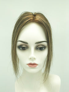 Mono Top Human Hair Piece, 12.5x7.5cm Area, 25cm Long, Foil Blonde