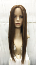 "Mono Top Human Hair Wig Brown mix Blonde, Straight, 22"" Long, 150 grams"