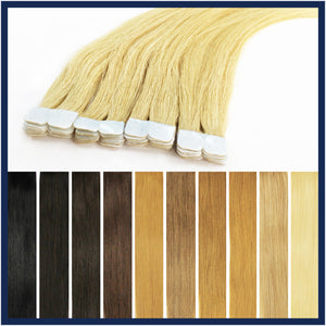 "Micro Tape Human Hair Extensions, 22"", 100 pieces"
