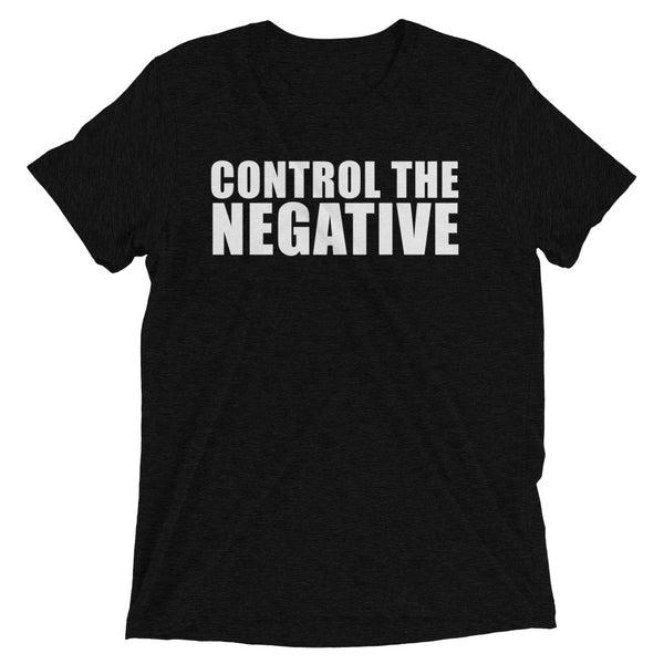 Control The Negative Fitness Motivational Lifestyle T-shirt Black