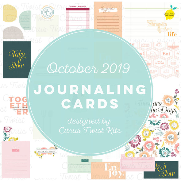 "Life Crafted ""At My Table"" Journaling Cards - October 2019"