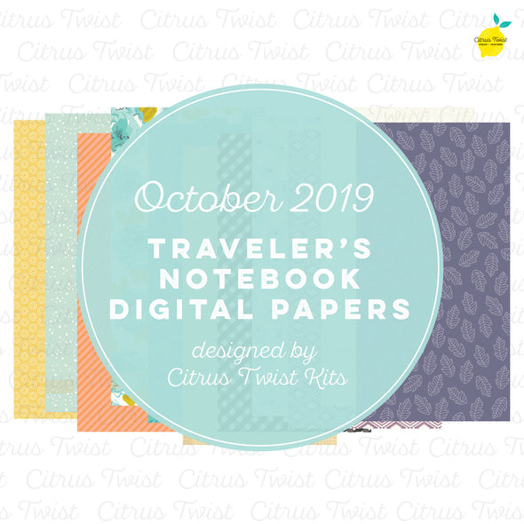 At My Table Notebook Digital Papers - October 2019