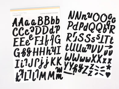 Citrus Twist Black Glitter Foam Alphabet Stickers