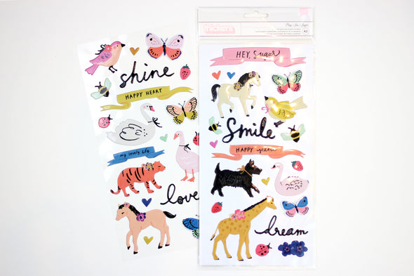 "Maggie Holmes Sweet Story ""Play"" 6x12 Puffy Phrase and Accent Stickers"