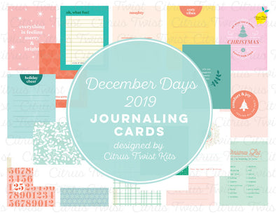 """DECEMBER DAYS"" Journal Cards - 2019"