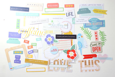"Citrus Twist ""Make It a Venti"" Die-Cut Cardstock Ephemera"