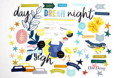 Citrus Twist April 2020 NIGHT & DAY Die-Cut Cardstock Ephemera