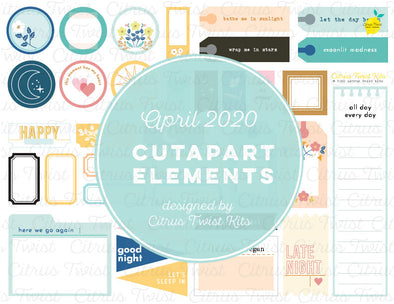 Printable - Cutapart Elements - April 2020