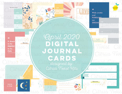 "Life Crafted ""Night & Day"" Journal Cards - April 2020"
