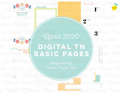 Night & Day Traveler's Notebook Basics Digital Papers