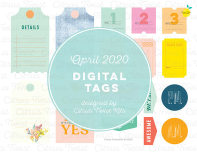 Printable - Night & Day Digital Tags - April 2020