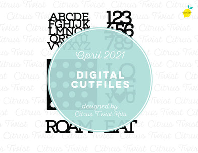Digital Cut file - PLACEMATS - April 2021
