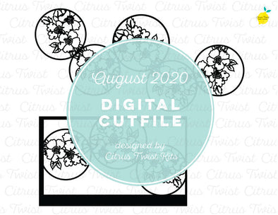 Cut file - FLORAL CIRCLE - August 2020