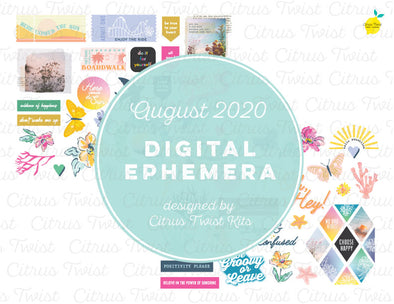 Printable - TRUE STORIES Ephemera Elements - August 2020