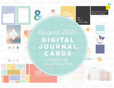 "Life Crafted ""TRUE STORIES"" Journal Cards - August 2020"