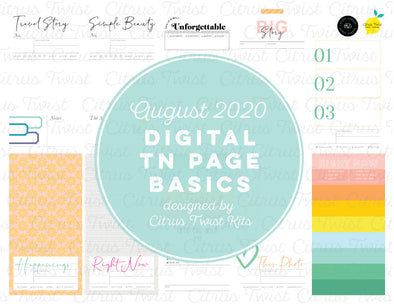 TRUE STORIES Traveler's Notebook Basics Digital Papers
