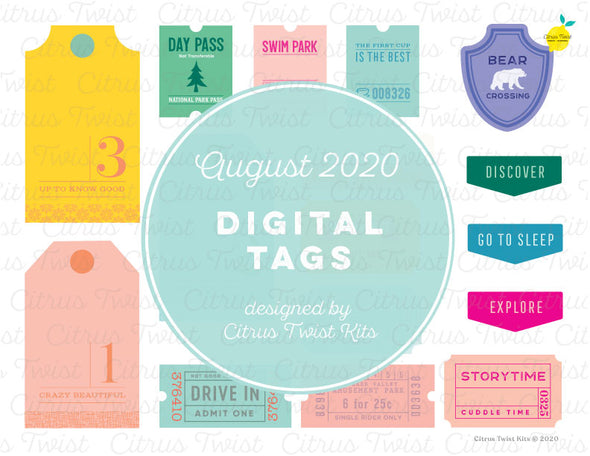 Printable - TRUE STORIES Digital Tags - August 2020