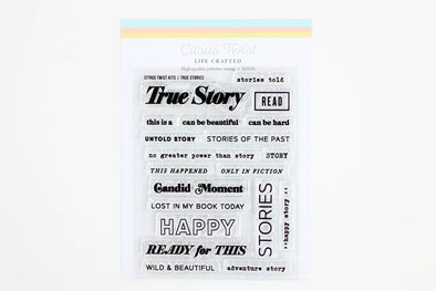 "Citrus Twist 3"" x 4"" TRUE STORIES Kit Stamp"