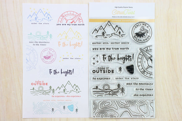 "August 2018 This Is Life ""Outdoor Adventures"" Stamp"
