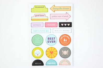 Citrus Twist BEST EVER Chipboard Stickers
