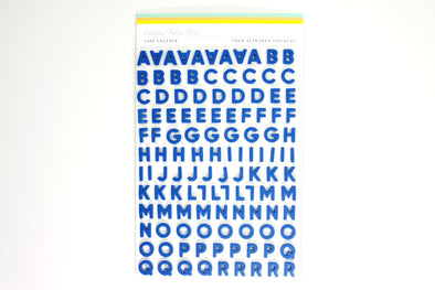Citrus Twist ROYAL BLUE Foam Alphabet