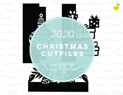 Cut file - CHRISTMAS TAB DIVIDERS - Christmas 2020