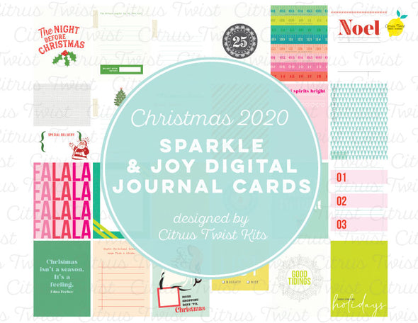 SPARKLE & JOY Digital Journal Cards - Christmas 2020