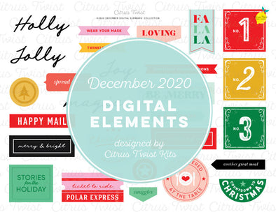 Life Crafted - COMFORT & JOY Digital Elements - December 2020