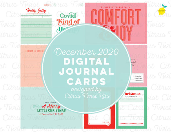 Life Crafted COMFORT & JOY Digital Journal Cards - December 2020