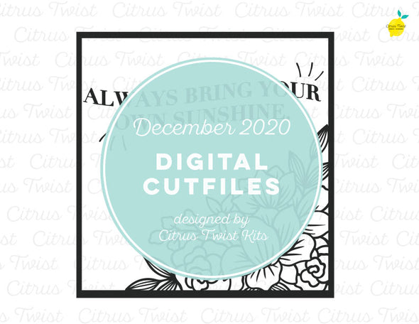 Digital Cut file - FLORAL FRAME - December 2020