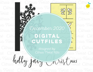 Digital Cut file - HOLLY JOLLY CHRISTMAS - December 2020