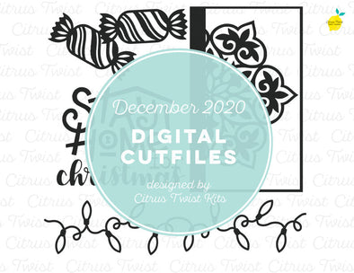 Digital Cut file - HOME FOR CHRISTMAS - December 2020