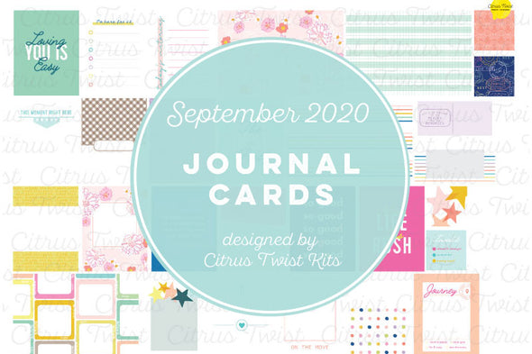 "Life Crafted ""THE BEST PARTS"" Journal Cards - September 2020"
