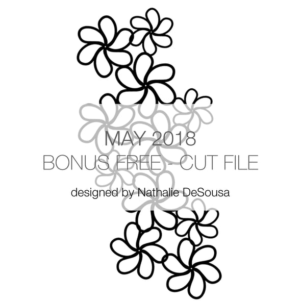 Cut File - Floral Drops - FREE - May 2018 (designed by Nathalie DeSousa)