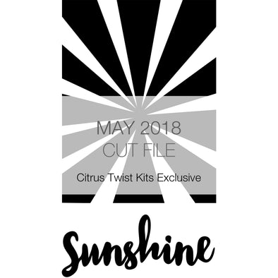 Cut File - Sunray Art - May 2018