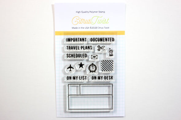 "Citrus Twist ""Document It"" Stamp"