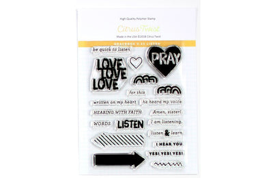 "SALE: Citrus Twist GraceBox ""Listen"" v23 Stamp"