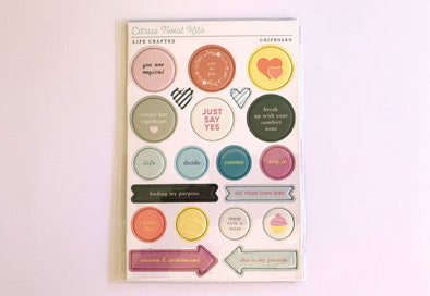 Citrus Twist POSSIBILITIES Chipboard Stickers