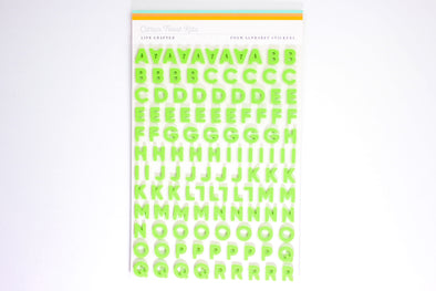 Citrus Twist GRASS GREEN Foam Alphabet